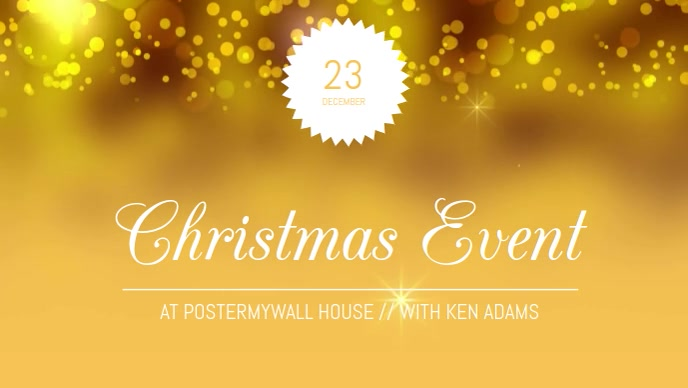Christmas Event Video facebook post template