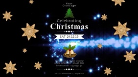 Christmas event video invitation Party Cover