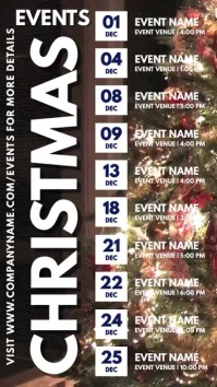 Christmas Events Schedule Digital Template