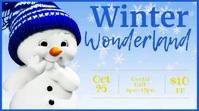 Christmas facebook cover Winter wonderland Presentation (16:9) template