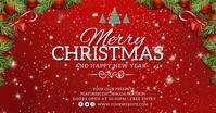 Christmas Facebook Post Template delt Facebook-billede