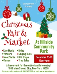 Christmas Fair & Market Flyer (US Letter) template