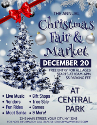 Christmas Fair & Market Flyer (US Letter) template