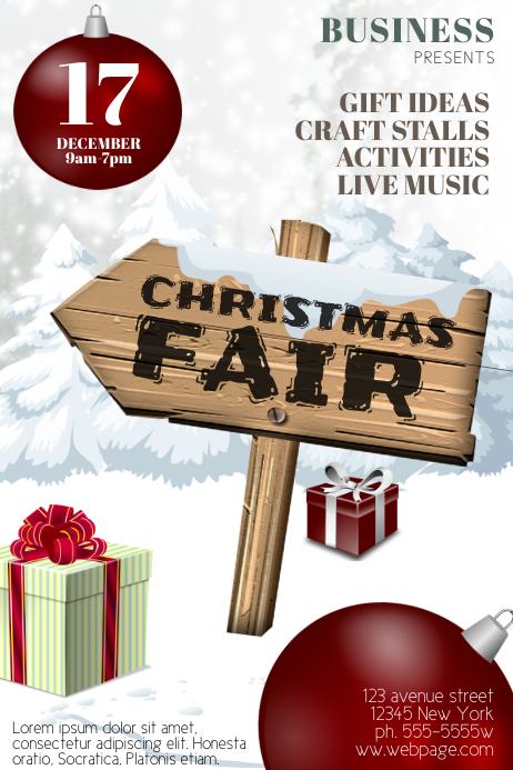 Christmas Fair Flyer Template