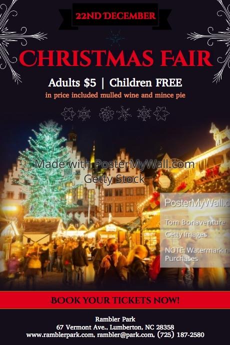 Christmas Fair Template Postermywall