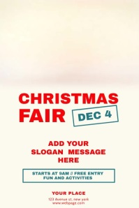 Christmas fair flyer template with video