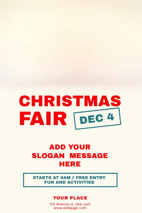 Christmas Fair Flyer Template With Video Postermywall