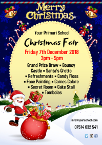 Christmas Fair Poster A4 template