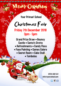Christmas Fair Poster Template A4