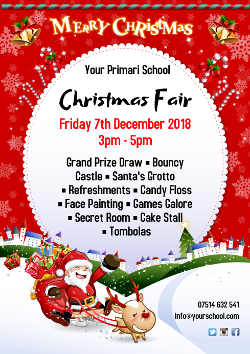 Christmas Fair Poster Template Postermywall