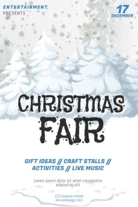 Christmas Fair Raffle Flyer Template video