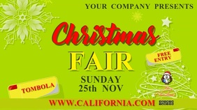 christmas fair18b Digital Display (16:9) template