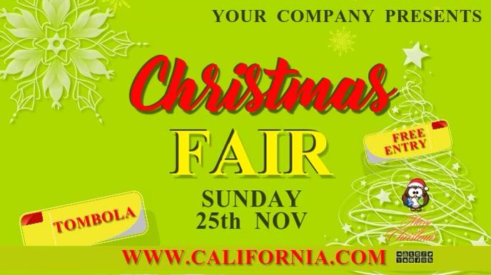 christmas fair18b Tampilan Digital (16:9) template