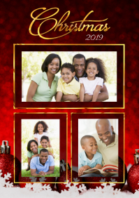 Christmas Family Collage A4 template