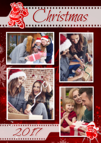 Christmas Family Collage A3 template