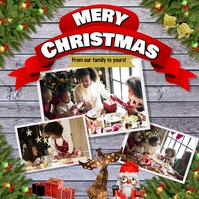 Christmas Family Greeting Card Instagram Instagram-Beitrag template