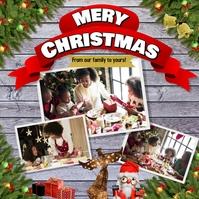Christmas Family Greeting Card Instagram