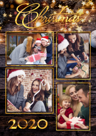 Christmas Family Poster A3 template
