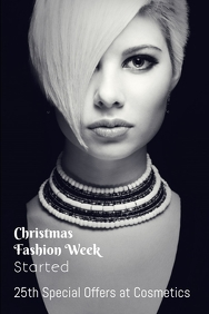 Christmas Fashion week poster template