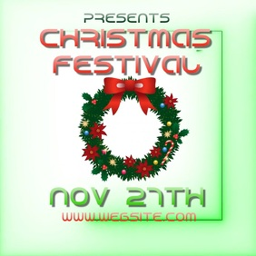 CHRISTMAS fest festival ad video digital