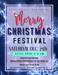CHRISTMAS FEST FESTIVAL DIGITAL VIDEO Flyer