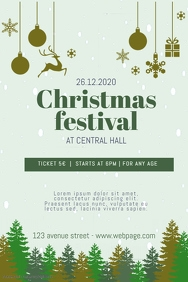 Christmas Festival Flyer Template