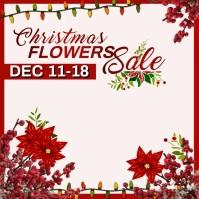 Christmas Flowers Sale Pos Instagram template