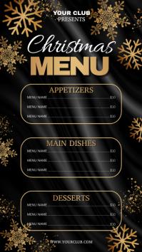 christmas flyer, christmas, christmas menu Digitale Vertoning (9:16) template