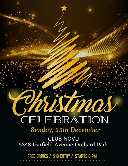 christmas flyer, christmas, merry christmas Рекламная листовка (US Letter) template