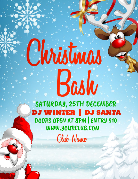 christmas flyer, christmas, merry christmas Volantino (US Letter) template