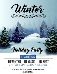 christmas flyer, christmas, winter