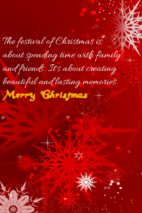 Christmas Flyer Poster template
