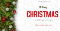 Christmas flyer Facebook Gedeelde Prent template