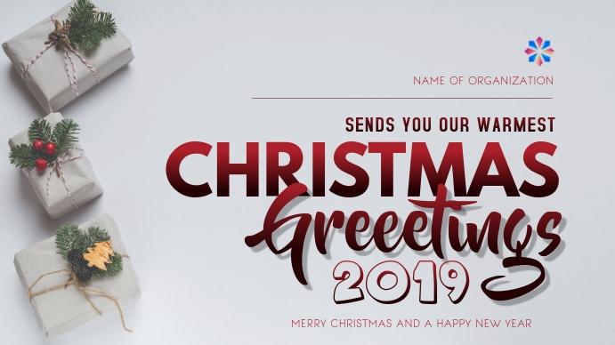 CHRISTMAS FLYER 数字显示屏 (16:9) template
