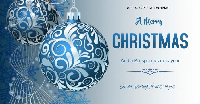 Christmas flyer delt Facebook-billede template