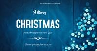 Christmas flyer Image partagée Facebook template