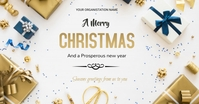 Christmas flyer Obraz udostępniany na Facebooku template