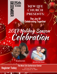 customizable design templates for church christmas flyer postermywall
