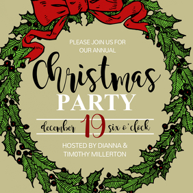Christmas poster templates postermywall for Party wall letter template