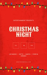 Christmas Flyer Template Cover ng Libro