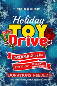 toy drive donation flyer christmas