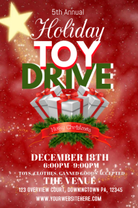 christmas toy drive flyer christmas