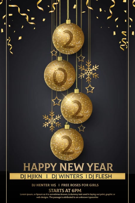 Christmas flyers, new year Poster template