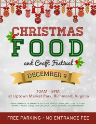Christmas Food and Craft Event Flyer Design