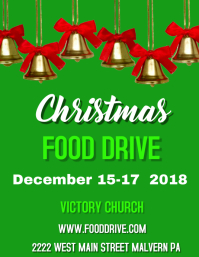 CHRISTMAS FOOD DRIVE Flyer (US-Letter) template