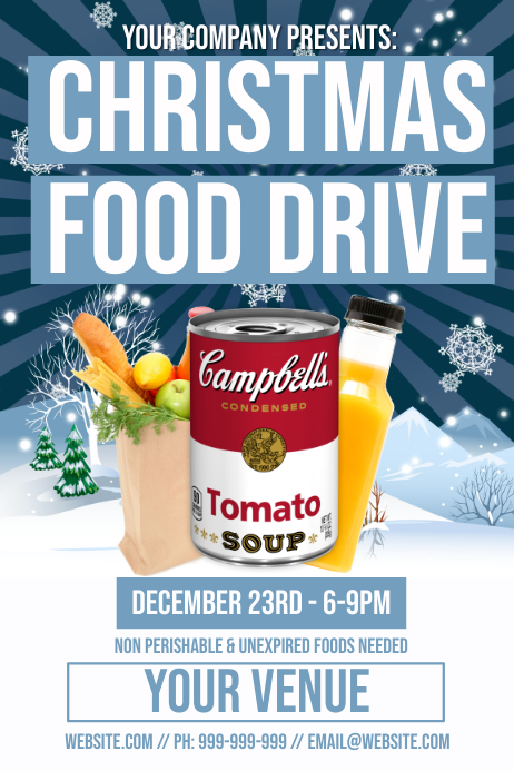 Christmas Food Drive Poster