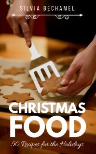 Christmas Food Recipes Book Обложка Kindle template