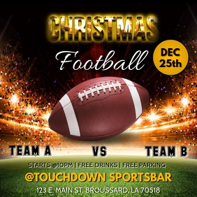 CHRISTMAS FOOTBALL THANKSGIVING TEMPLATE
