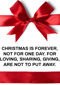 CHRISTMAS FOREVER QUOTE TEMPLATE A3