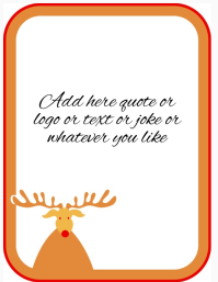 Christmas frame for text or photos poster template